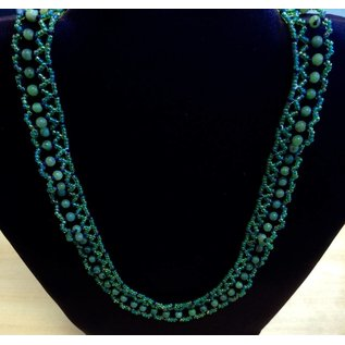 Waterwalking Studios Lace Beaded Necklace