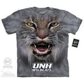 The Mountain Big Face UNH Wildcat T-Shirt (Child)