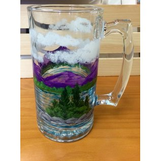 The Painted Vessel Painted Lake Scene Beer Mug