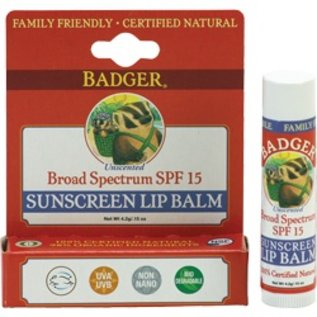 W.S. Badger Lip Balm - SPF 15 Sunscreen