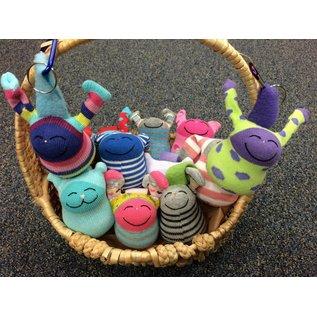 Arlette Laan Fiber Creations Backpack Buddy Key Chain Sock Doll