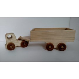 Enjoy Wooden Toys Wooden Truck with Trailer