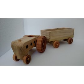 Enjoy Wooden Toys Wooden Tractor and Wagon