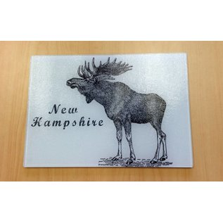 The Traveled Lane New Hampshire Tempered Glass Cutting Board