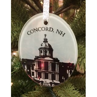 The Traveled Lane New Hampshire Ceramic Ornaments