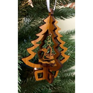 Laserkrafts 3D Tree Lasercut Wooden Ornament