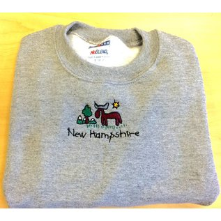 DF Embroidery New Hampshire Moose Sweatshirt - Youth