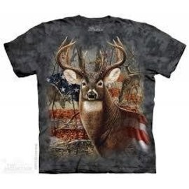 The Mountain Patriotic Buck T-shirt - Adult
