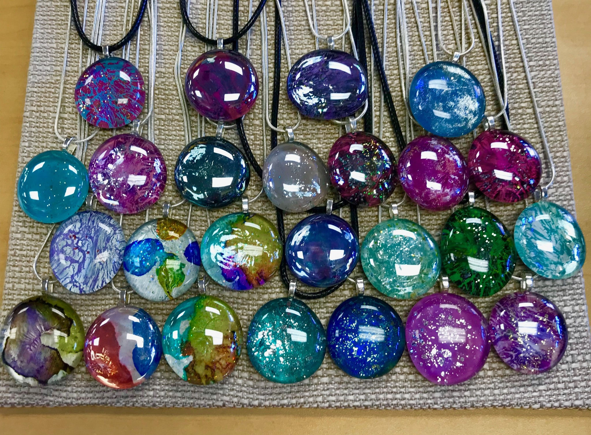 Alcohol Ink Christmas Ornaments.Alcohol Ink Pendant