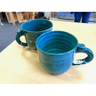 Muddy Girls Studio Turquoise Mugs