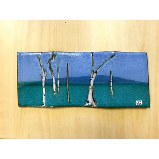 Muddy Girls Studio Rectangle Tray with Birch Trees