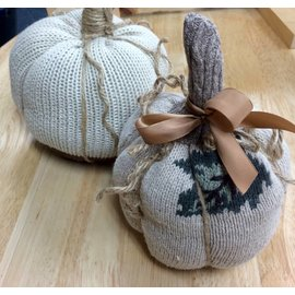 Handcrafted by Holly Sweater Pumpkin - Medium