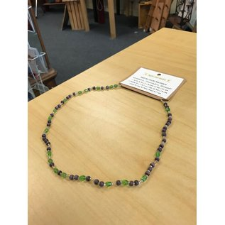 Apple and Azalea Morse Code Necklace- Grateful
