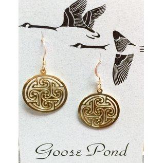 Goose Pond Celtic Circle - 24k Gold Plated