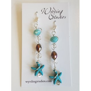 Wyrding Studios Starfish Earrings