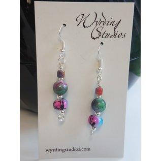 Wyrding Studios Paint Splatter Earrings