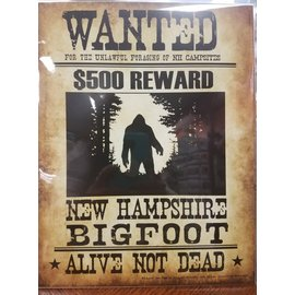 peter cleaves wanted Big Foot Poster