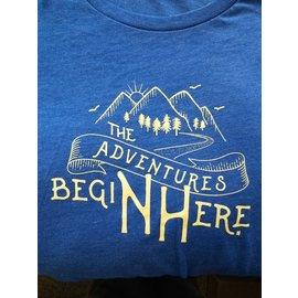 Upper Notch Press The Adventures Begin Here LADIES T Shirt