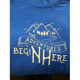 Upper Notch Press The Adventures Begin Here LADIES T Shirt