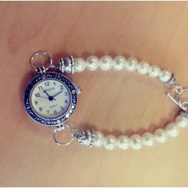 Kathryn Shing Pearl Bracelet with watch