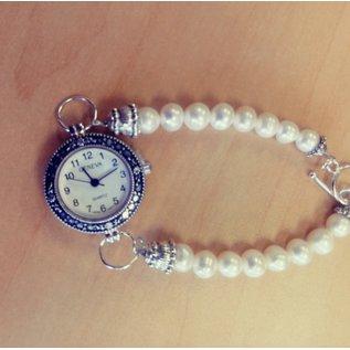 Kathryn Shing Pearl Bracelet with watch