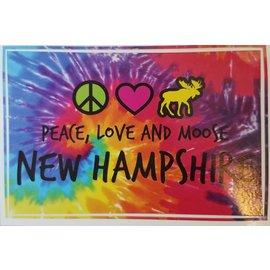 Eastern Illustrating Sticker - Peace Love & Moose
