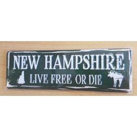 Eastern Illustrating Magnet-NH Sign Live Free or Die
