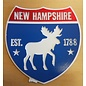 Eastern Illustrating Magnet-NH Route Sign with Moose