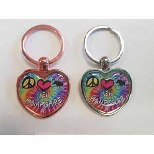 Eastern Illustrating Keychain-Peace Love Moose