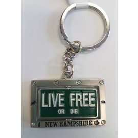 Eastern Illustrating Keychain-Live Free or Die Spinner