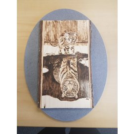 Best Wishes Wood Burn Plaque- Rectangle