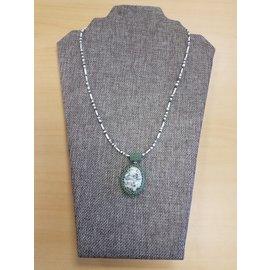 Janelle Woodland Pendant-Peyote and Stone
