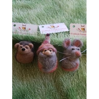 Woodland Cottage Creations Felted Ornament - small