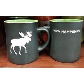 Eastern Illustrating Mug: Black Matte NH Moose