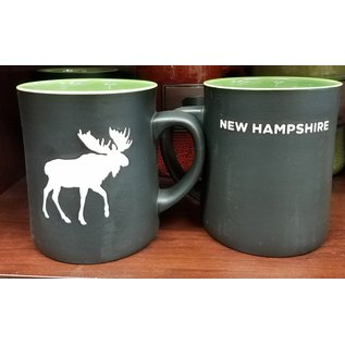 Eastern Illustrating Mug: Black Matte NH Moose