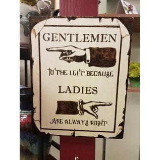 Best Wishes Plaque-Gentlemen to the Left...