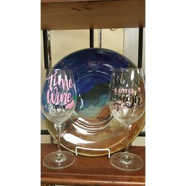 Bumeit Designs Wine Glass:  Various Sayings