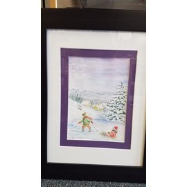 Mary Belecz Framed Original Watercolor by M. Belecz