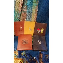 Dogwood Leather Shop Leather Wallet:  Slim Embroidered