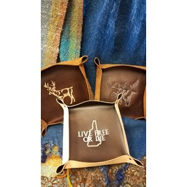 Dogwood Leather Shop Leather Caddy:  Embroidered