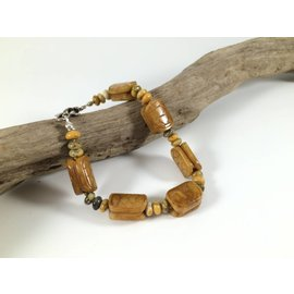 Birds on The Wing Turtle Shell Jasper Bracelet