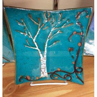 Muddy Girls Studio Birch Tree Stoneware Plate
