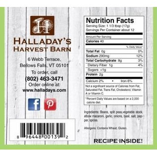 Halladay's Barn Farmhouse Minestrone Soup Mix