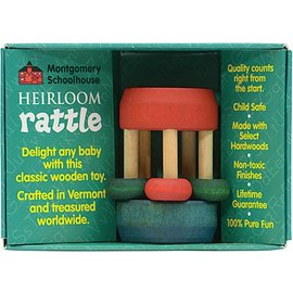 Maple Landmark Mini Bead Wooden Rattle