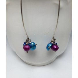Good Gaud Designs Silver Earrings with Multi Beads