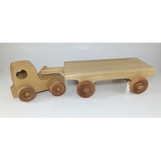 Enjoy Wooden Toys Wooden Truck with Hay Wagon