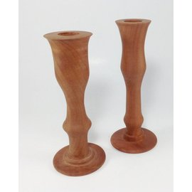 Mystic Eye Creations Oregon Myrtle Burl  Candlestick Pair