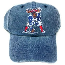 Woods & Sea Minute Moose Patriot Baseball Hat