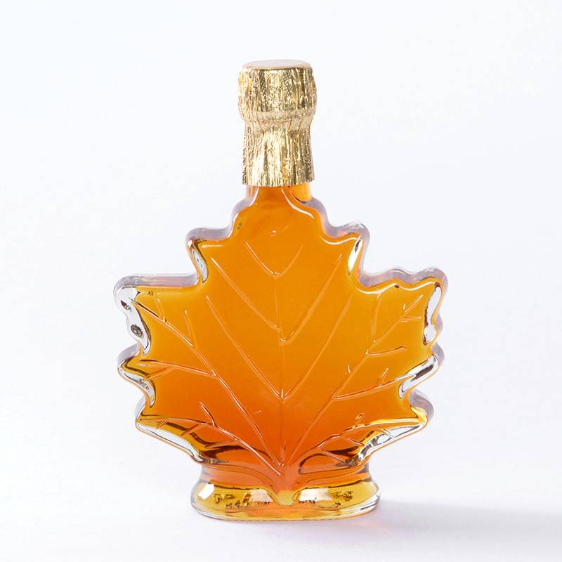 Maple Syrup - Maple Leaf Glass Bottle - 3.4 oz