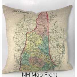 The Traveled Lane Decorative Burlap Pillows